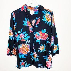 {Anthro} Maeve woodland walk floral tunic